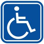 Dyżur społecznikia na rzecz osób niepełnosprawnych.